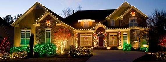 House With Christmas Lights Clipart.Christmas Lights Terraturf